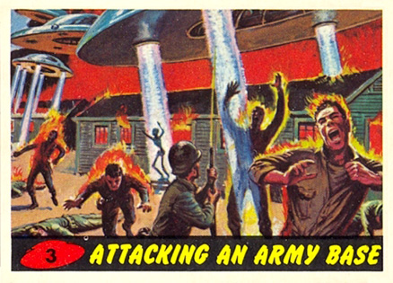 1962 Mars Attacks Attacking an Army Base #3 Non-Sports Card