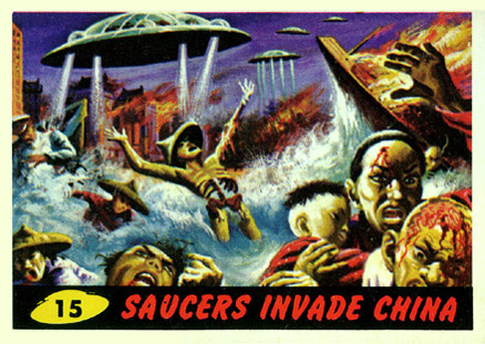 1962 Mars Attacks Saucers Invade China #15 Non-Sports Card