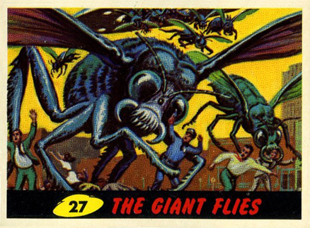1962 Mars Attacks The Giant Flies #27 Non-Sports Card