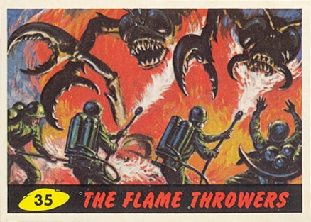 1962 Mars Attacks The Flame Throwers #35 Non-Sports Card