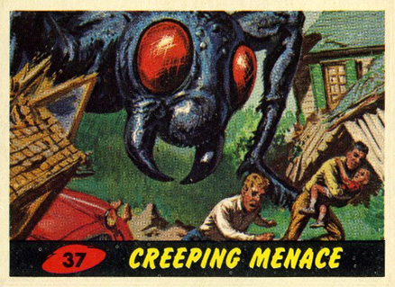 1962 Mars Attacks Creeping Menace #37 Non-Sports Card