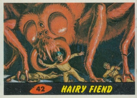 1962 Mars Attacks Hairy Fiend #42 Non-Sports Card