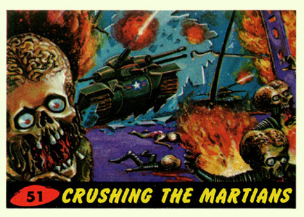 1962 Mars Attacks Crushing the Martians #51 Non-Sports Card