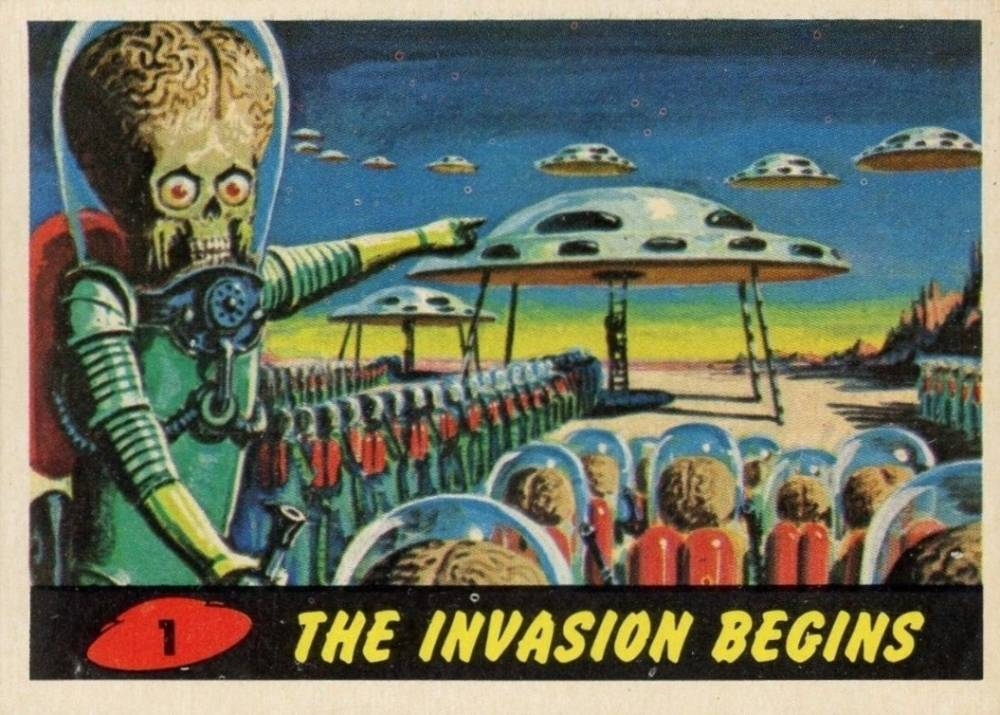 1962 Mars Attacks The Invasion Begins #1 Non-Sports Card