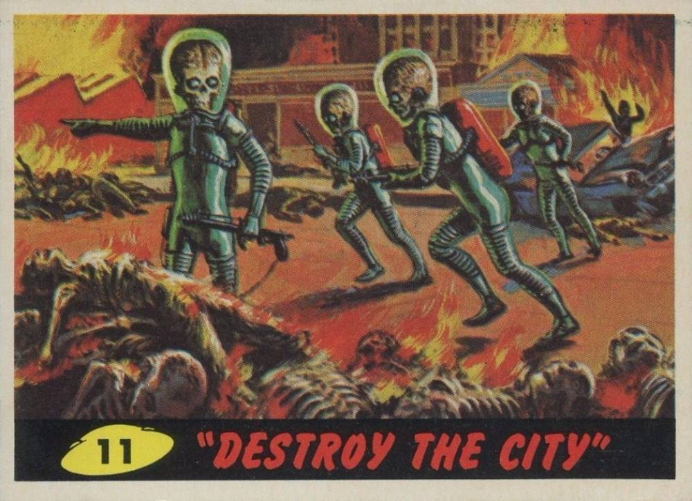 1962 Mars Attacks Destroy the City #11 Non-Sports Card