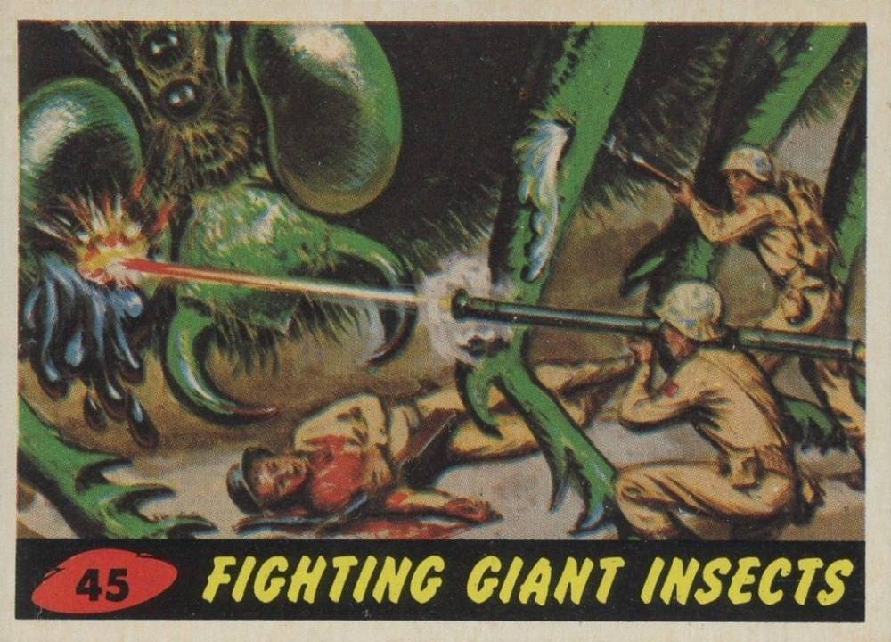 1962 Mars Attacks Fighting Giant Insects #45 Non-Sports Card