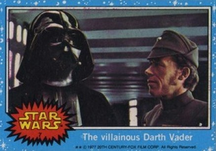 1977 Star Wars The villainous Darth Vader #7 Non-Sports Card