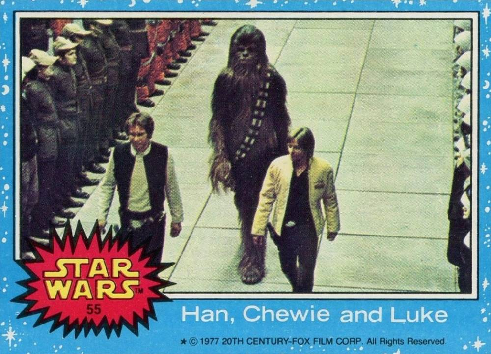 1977 Star Wars Han, Chewie and Luke #55 Non-Sports Card