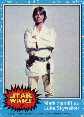 1977 Star Wars Mark Hamill as Luke Skywalker #57 Non-Sports Card