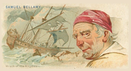 1888 Allen & Ginter Pirates of the Spanish Main Samuel Bellamy #2 Non-Sports Card