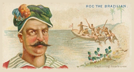 1888 Allen & Ginter Pirates of the Spanish Main  Roc the Brazilian #11 Non-Sports Card