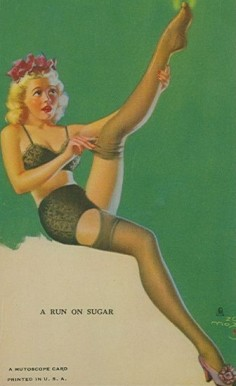 1945 Mutoscope Artist Pin Up   #1 Non-Sports Card