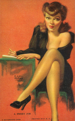 1945 Mutoscope Artist Pin Up   #2 Non-Sports Card