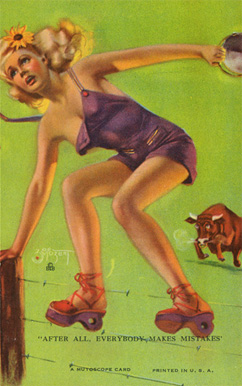 1945 Mutoscope Artist Pin Up   #4 Non-Sports Card