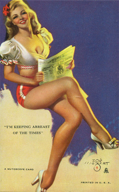 1945 Mutoscope Artist Pin Up   #29 Non-Sports Card