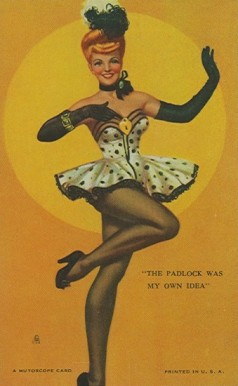 1945 Mutoscope Artist Pin Up   #54 Non-Sports Card