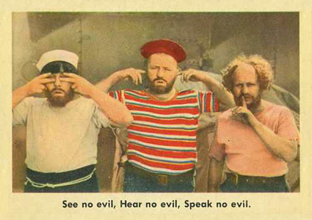1959 Three Stooges See No Evil  Hear No Evil, Speak No Evil #17 Non-Sports Card