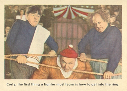1959 Three Stooges Curly The First Thing A Fighter... #63no Non-Sports Card