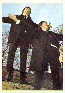 1964 Beatles Color Ringo and Paul yelling #7 Non-Sports Card