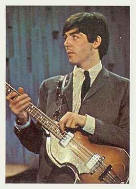 1964 Beatles Color Paul with George speaking #8 Non-Sports Card