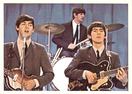 1964 Beatles Color Ringo, Paul and George performing #27 Non-Sports Card