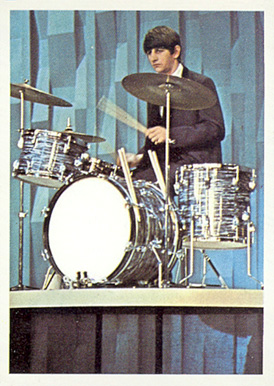 1964 Beatles Color Ringo on drums #28 Non-Sports Card