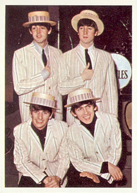 1964 Beatles Color Beatles in straw hats #31 Non-Sports Card
