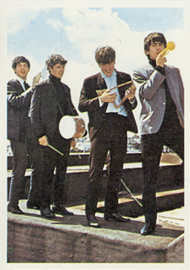 1964 Beatles Color Beatles goofing off #43 Non-Sports Card