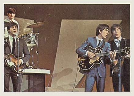 1964 Beatles Color Beatles performing #55 Non-Sports Card