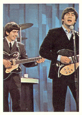 1964 Beatles Color George and John playing in concert #63 Non-Sports Card