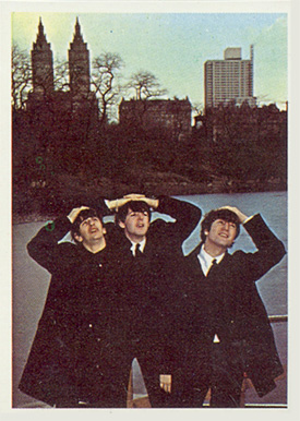 1964 Beatles Color John, Paul and Ringo looking up #64 Non-Sports Card