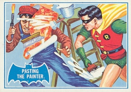 1966 Batman B Series Pasting the Panther #27B Non-Sports Card