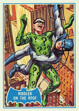 1966 Batman B Series Riddler on the Roof #37B Non-Sports Card