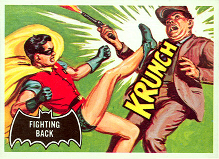 1966 Batman Black Bat Fighting Back #30 Non-Sports Card
