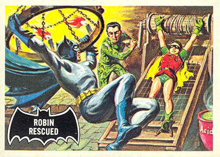 1966 Batman Black Bat Robin Rescued #38 Non-Sports Card