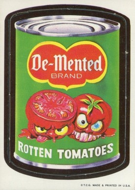 1967 Wacky Packs Die Cut Demented Tomatoes #15-dem Non-Sports Card