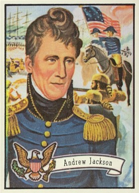 1972 Topps U.S. Presidents - Candidates Andrew Jackson #7 Non-Sports Card