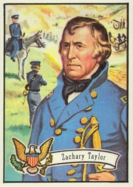 1972 Topps U.S. Presidents - Candidates Zachary Taylor #12 Non-Sports Card
