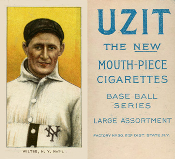 1909 White Borders (UZIT) Hooks Wiltse #519 Baseball Card