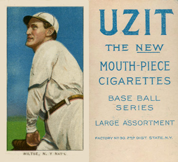 1909 White Borders (UZIT) Hooks Wiltse #517 Baseball Card
