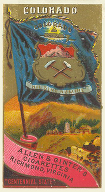 1888 Allen & Ginter Flags of States & Territory Colorado #5 Non-Sports Card