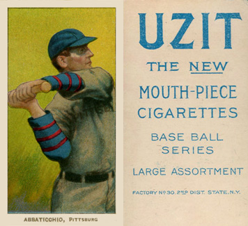 1909 White Borders (UZIT) Ed Abbaticchio #1 Baseball Card