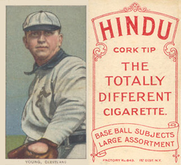 1909 White Borders (Red Hindu) Cy Young #521 Baseball Card