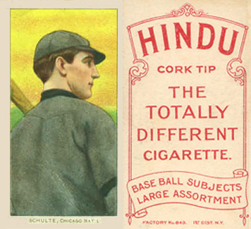 1909 White Borders (Red Hindu) Wildfire Schulte #431 Baseball Card