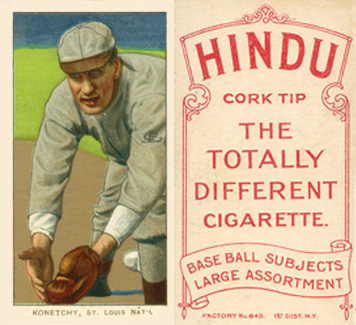 1909 White Borders Hindu-Red Konetchy, St. Louis Nat'L #263 Baseball Card