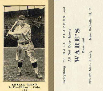1916 Wares Leslie Mann #111 Baseball Card