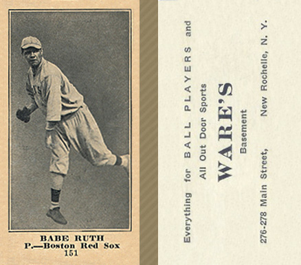 1916 Wares Babe Ruth #151 Baseball Card