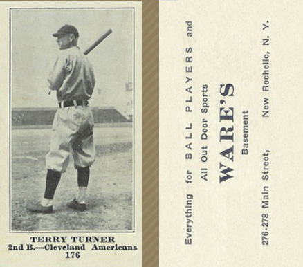 1916 Wares Terry Turner #176 Baseball Card