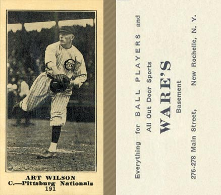 1916 Wares Art Wilson #191 Baseball Card
