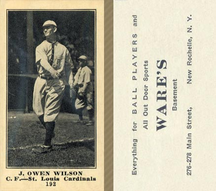 1916 Wares J. Owen Wilson #192 Baseball Card